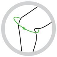 Ginocchiera tubolare in elastico con stecche a spirale e stabilizzatore rotuleo in silicone SP G 703