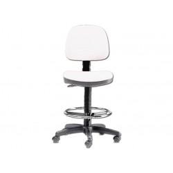 SGABELLO VERCELLI - con schienale ed anello - bianco (FP 6)