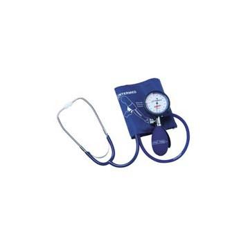 Sfigmomanometro ad aneroide per auto misurazione latex freecon fonendoscopio incorporato