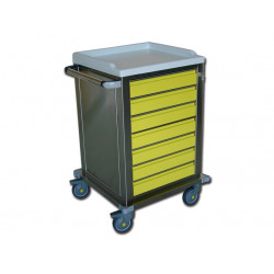 CARRELLO MODULARE - inox - 7 cassetti
