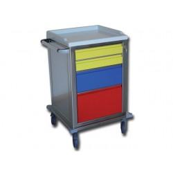 CARRELLO MODULARE - inox - 2 + 1 + 1 cassetti