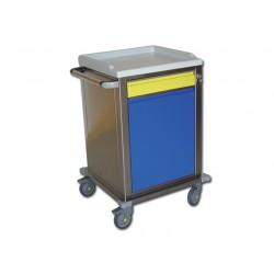 CARRELLO MODULARE - inox - 1 + 1 cassetti