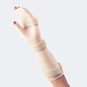 Mod. 2 ortesi palmare in polietilene per polso, mano e dita e pollice
