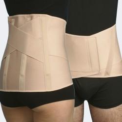 Modello 523 corsetto elastico lombosacrale uomo con rinforzi paravertebrali e supporto lombare ad incrocio