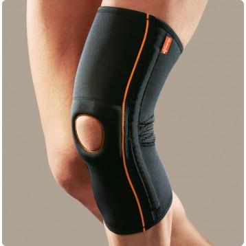 Genufit04 ginocchiera tubolare in tessuto AirX con stabilizzatore rotuleo