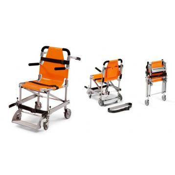 Sedia portaferiti pieghevole con pedana e braccioli cm56x95h - 10kg