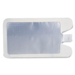 Piastra monouso con supporto in foam medicale adesivo e gel solido