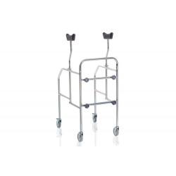 Deambulatore ascellare 4 ruote smontabile