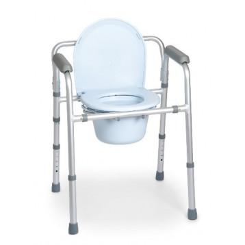 Sedia pieghevole in alluminio per water