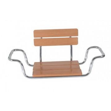 Sedilvasca con seduta legno e schienale