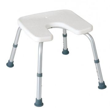 Sedile per doccia senza schienale con foro