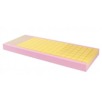 Materasso quadricomponente a scarichi differenziati, a sezione unica