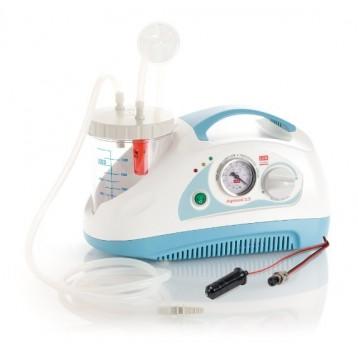 Aspiratore Chirurgico Da Tavolo Portatile - Aspimed 2.5 - Doppia Alimentazione (230/50Hz - 12 Vdc) A Batteria
