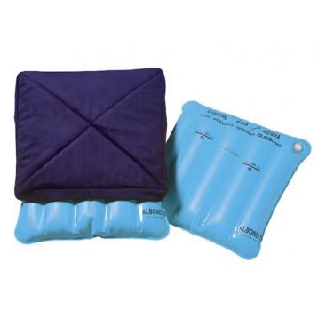 Cuscino aria-acqua fodera in velluto blu