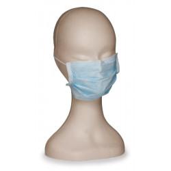 Maschera chirurgica tnt verde 3 strati con lacci