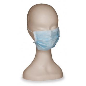 Maschera chirurgica tnt verde 3 strati con lacci 1000 pz.