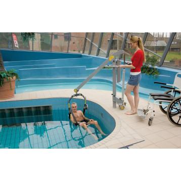 Sollevapersone mobile e compatto per piscina - HANDI SWIM