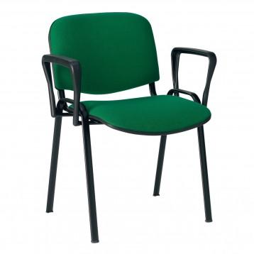 Sedia attesa telaio in acciaio ovale verniciato e con braccioli smontabili