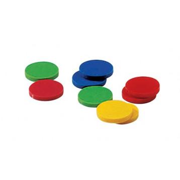 9 dischi in soffice vinile per percorsi di deambulazione o gioco delle bocce