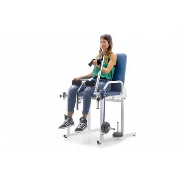 Sedia polivalente per la riabilitazione degli arti inferiori e superiori e per esercizi muscolari - Arti rehab