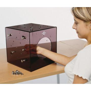 Cubo in plexiglass per la riabilitazione del polso e delle dita - Cubo therapy
