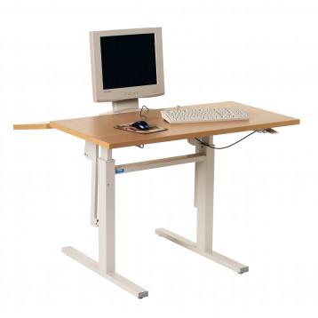 Tavolo ergonomico con piano a due sezioni