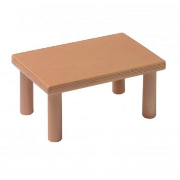 Poggiapiedi in legno realizzato in faggio massello