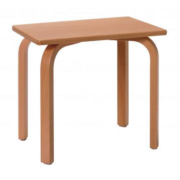 Sgabello ad altezza fissa e seduta in legno