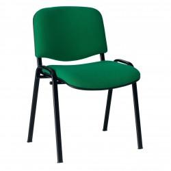 Sedia attesa con sedile e schienale imbottiti senza braccioli