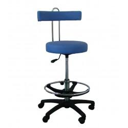 Sedia con schienale fisso centrale