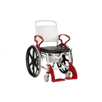 Sedia da doccia e per toilette con ruote da autospinta - Genf