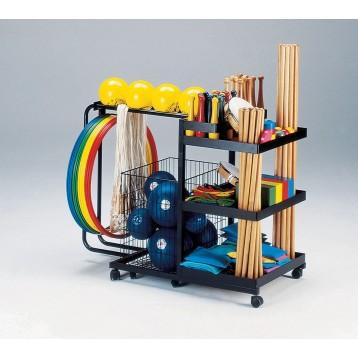 set di attrezzi psicomotori 2, clavette, sacchetti motori, funi, sfere, ceppi e cerchi