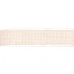 ROTOLO CARTA TERMICA ECG - griglia arancio - 50 mm x 20 m