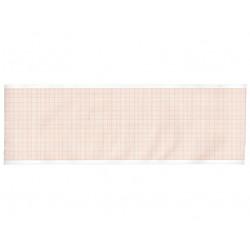 ROTOLO CARTA TERMICA ECG - griglia arancione - 90 mm x 28 m