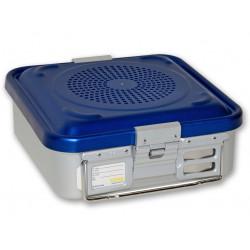 CONTAINER STANDARD 285 x 280 x h 100 mm - 2 filtri - perf. - blu