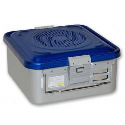 CONTAINER STANDARD 285 x 280 x h 135 mm - 2 filtri - perf. - blu