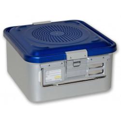 CONTAINER STANDARD 285 x 280 x h 150 mm - 2 filtri - perf. - blu