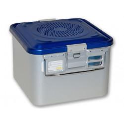 CONTAINER STANDARD 285 x 280 x h 200 mm - 2 filtri - perf. - blu