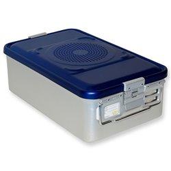 CONTAINER STANDARD 465 x 280 x h 150 mm - 2 filtri - perf. - blu