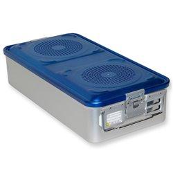 CONTAINER STANDARD 580 x 280 x h 135 mm - 4 filtri - perf. - blu