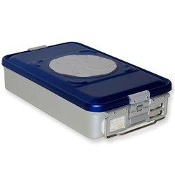 CONTAINER STANDARD 465 x 280 x h 100 mm - 2 valvole - perf. - blu