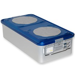 CONTAINER STANDARD 580 x 280 x h 150 mm - 4 valvole - perf. - blu