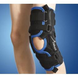 Modello Mr4154 ginocchiera avvolgente pediatrica in Tritex con articolazioni policentriche e controllo regolabile dell'iperesten