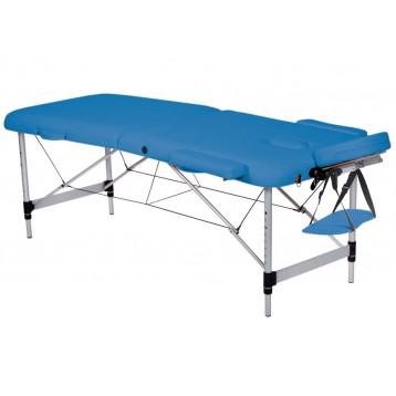 Lettino Da Massaggio Portatile In Alluminio.Lettino Da Massaggio In Alluminio A 2 Sezioni Blu