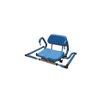 Sedia girevole per vasca con imbottiture in poliuretano