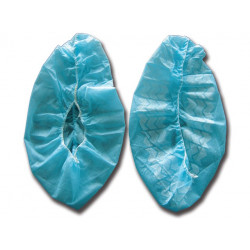 Copriscarpe monouso antiscivolo azzurro - 2000 pezzi