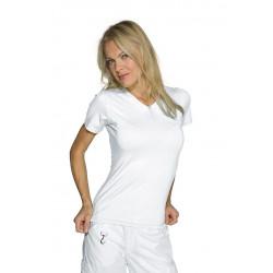 Maglietta Stretch Mezza Manica Bianco Cotone / Spandex