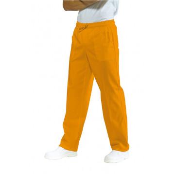 Pantalone Con Elastico Albicocca Poliestere / Cotone