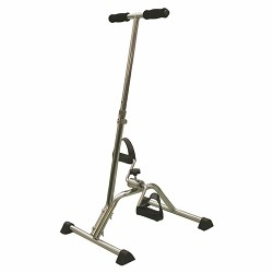 Pedaliera per riabilitazione con impugnature in acciaio