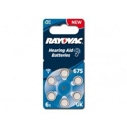 BATTERIE ACUSTICA RAYOVAC 675 - senza mercurio